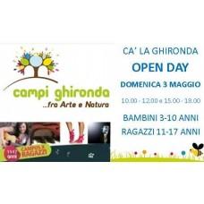 Open Day Campi Ghironda bambini 3-10 anni e Campus per ragazzi 11-17